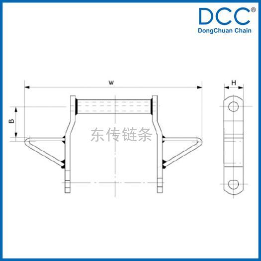 宽系列焊接弯板链及附件